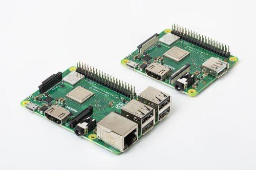Raspberry Pi 3B+ im Vergleich zum A3+ - © Raspberry Pi Foundation
