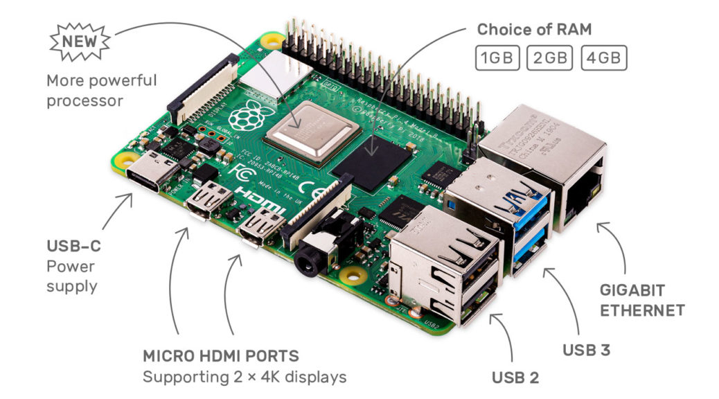 Raspberry Pi 4 © Raspberry Pi Foundation