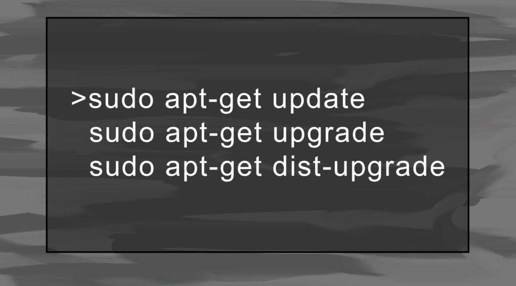 sudo apt-get update, upgrade, dist-upgrade